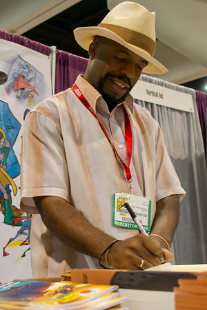 """Eric Clement. He is creator of """"Captain Save a Hood"""" comic."""