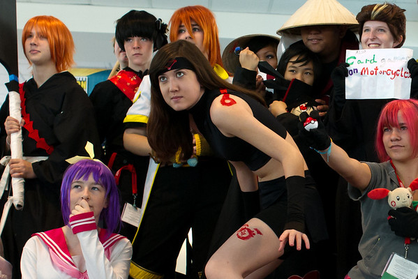 Cosplayers. This is a crop.
