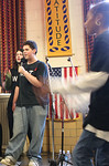 The teen with the microphone explains why concern about HIV and AIDs is the first reason he will abstain from premarital sex.